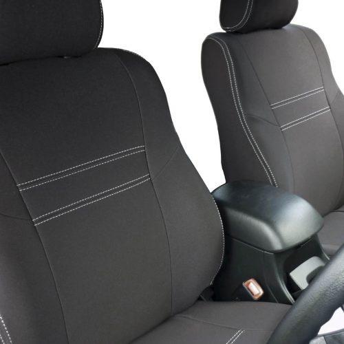 Custom Fit, Waterproof, Neoprene Toyota Hilux MK.7 - Sports FULL-BACK Front Seat Covers.