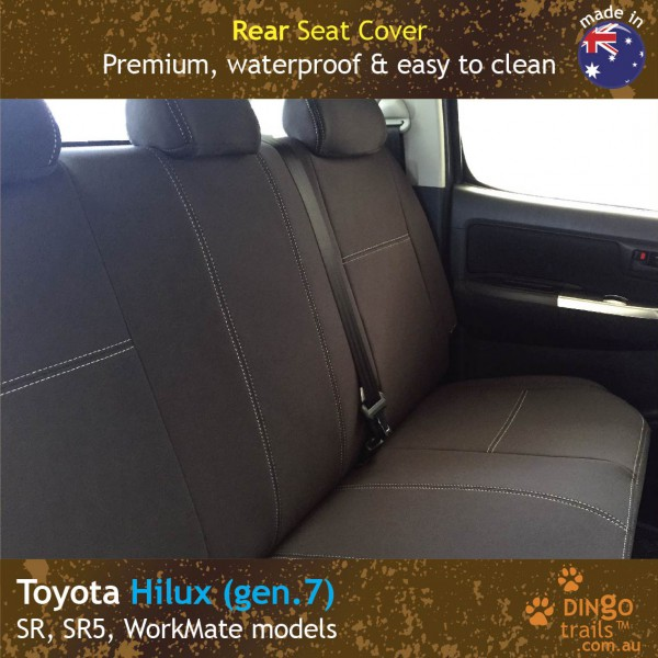 Neoprene REAR Seat Cover for Toyota Hilux MK.7 – Sports, WorkMate, SR, SR5