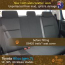 Toyota Hilux Neoprene Seat Covers (TH05)p-01