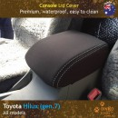 Custom Fit, Waterproof, Neoprene Toyota Hilux MK.7 - Sports CONSOLE Lid Cover.